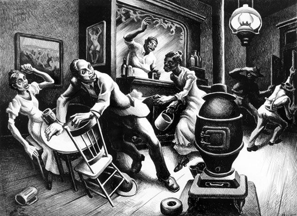 Thomas Hart Benton on artline