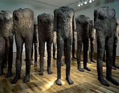 artline, art, artist, Magdalena Abakanowicz at Magdalena Abakanowicz<br /> <em>Ninety Five Figures from the Crowd of One Thousand Ninety Five Figures</em>, 2000<br /> bronze<br /> 109 x 38 x 25cm to 168 x 51 x 36cm varied