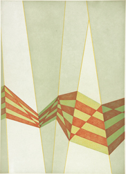 artline, art, artist, Tomma Abts at Tomma Abts<br /> <em>Untitled (diagonals)</em>, 2009<br /> color aquatint with soft ground etching, ed. 20<br /> 18 x 12 7/8&quot;