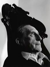 Marcel Duchamp at Marcel DuChamp<br /><br />Photograph by Arnold Newman