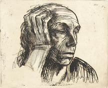 Kathe Kollwitz at Käthe Kollwitz Self Portrait