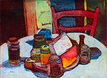 Anne Zahn, Artist, 100 Views of Home #18, artline