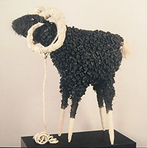 Carol Gellner Levin, Artist, Black Sheep, artline