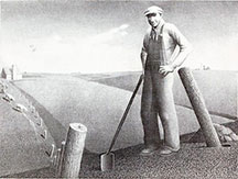 artline, art, artist, Grant Wood at Grant Wood<br /> <em>In the Spring</em>, 1939<br /> lithograph, edition 250, 8 7/8 x 11 7/8&quot;