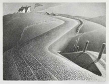 artline, art, artist, Grant Wood at Grant Wood <br /> <em>March</em>, 1939<br /> lithograph, edition 250, 8 3/4 x 11 3/4&quot;
