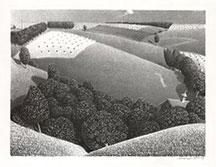 artline, art, artist, Grant Wood at Grant Wood<br /> <em>Spring</em>, 1938<br /> lithograph, edition 250, 8 15/16 x 11 7/8&quot;