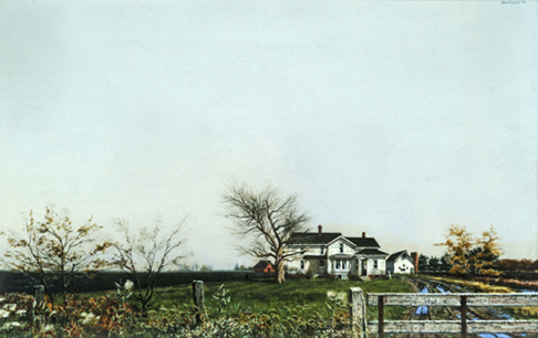 artline, art, artist, Billy Jackson at Billy Morrow Jackson<br /> <em>South of Savoy</em>, c. 1978<br /> watercolor<br /> 13 x 21&quot;