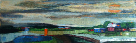 Billy Jackson at Billy Morrow Jackson<br /> <em>Untitled Prairie</em>, 1952<br /> oil on paper<br /> 10 1/4 x 28 1/2&quot;