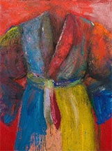 artline, art, artist, Jim Dine at Jim Dine<br /> <em>Gin from our Still</em>, 2014<br /> acrylic, sand &amp; charcoal on canvas<br />48 1/8 x 36 1/8&quot;