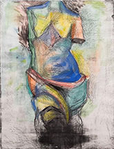 artline, art, artist, Jim Dine at Jim Dine<br /> <em>The French Watercolor Venus</em>, 1985<br /> unique mixed media w/soft-ground etching, ed. 8 varied<br />41 5/8 x 31 3/4&quot;
