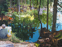 artline, art, artist, John Winslow at John Winslow<br /> <em>Forest Pool</em>, 2011<br /> oil on canvas, 72 x 96&quot;