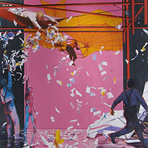 artline, art, artist, John Winslow at John Winslow<br /> <em>Taking Off</em>,  2013<br /> oil on canvas, 72 x 72&quot;