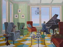 Kathryn Freeman, Artist, Armchair Blues