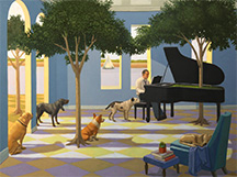 Kathryn Freeman, Artist, Blues for Dogs