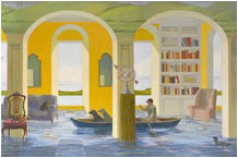 Kathryn Freeman, Artist, Lake House After the Storm