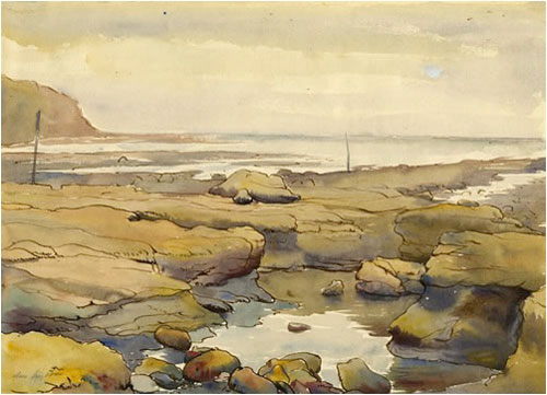 Rocky Shore, by Clare Leighton, on artline