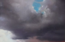 Manon Cleary, Artist, Grey Skyscape, artline