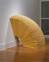artline, art, artist, Mary Early at Mary Early<br /> <em>Untitled (arch)</em>, 2004-06<br /> wood, tarlatan, glue, putty, beeswax<br />38 x 26 x 38&quot; diameter