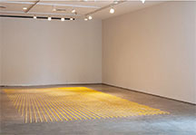 artline, art, artist, Mary Early at Mary Early<br /> <em>Untitled (wax points)</em>, 2014<br /> beeswax<br />dimensions variable