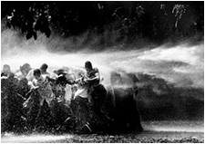 artline, art, artist, Robert Adelman at Robert Adelman<br /> <em>Water Hosing Demonstrators</em>, 1963<br /> gelatin silver print, printer later<br /> 14 5/8 x 19 1/2&quot;