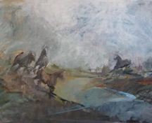 artline, art, artist, Jo Weiss at Jo Weiss<br /> <em>Arizona Run</em>, 2009<br /> oil on canvas<br /> 36 x 60&quot;