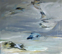 artline, art, artist, Jo Weiss at Jo Weiss<br /> <em>Demoiselle Dawn</em>, 2010<br /> oil on canvas<br /> 50 x 56&quot;