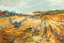 artline, art, artist, Jo Weiss at Jo Weiss<br /> <em>Post Harvest</em>, 2010<br /> oil on canvas<br /> 48 x 72&quot;