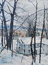 William C. Wright, Artist, One Inch Snow, artline