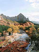 William C. Wright, Artist, The Watchman, Zion NP, artline