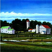 William R. Dunlap, Artist, Agri Building Blue Ridge, on artline
